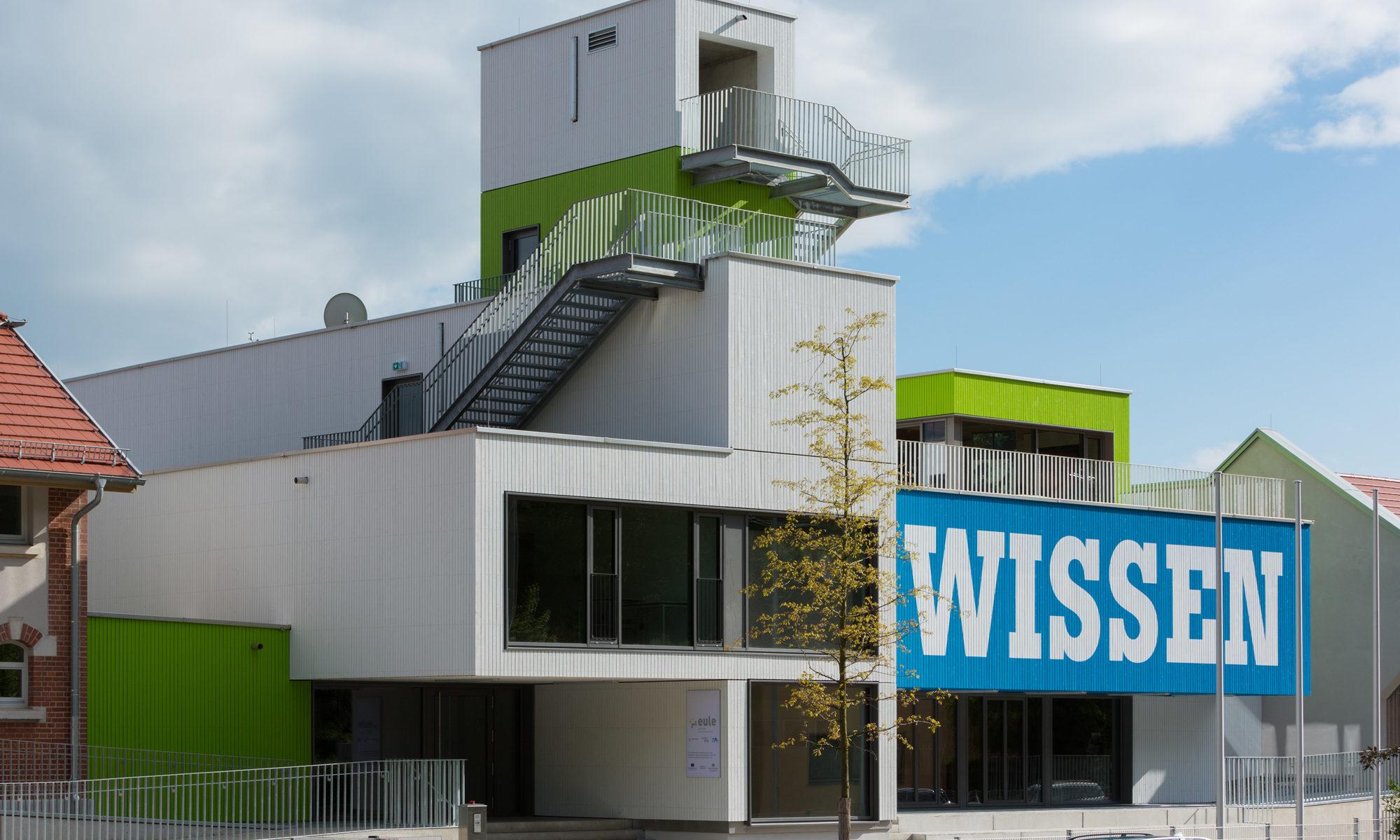 Die eule in Schwäbisch Gmünd, Foto von der Nordseite (Quelle: HGEsch / Henn Architekten)
