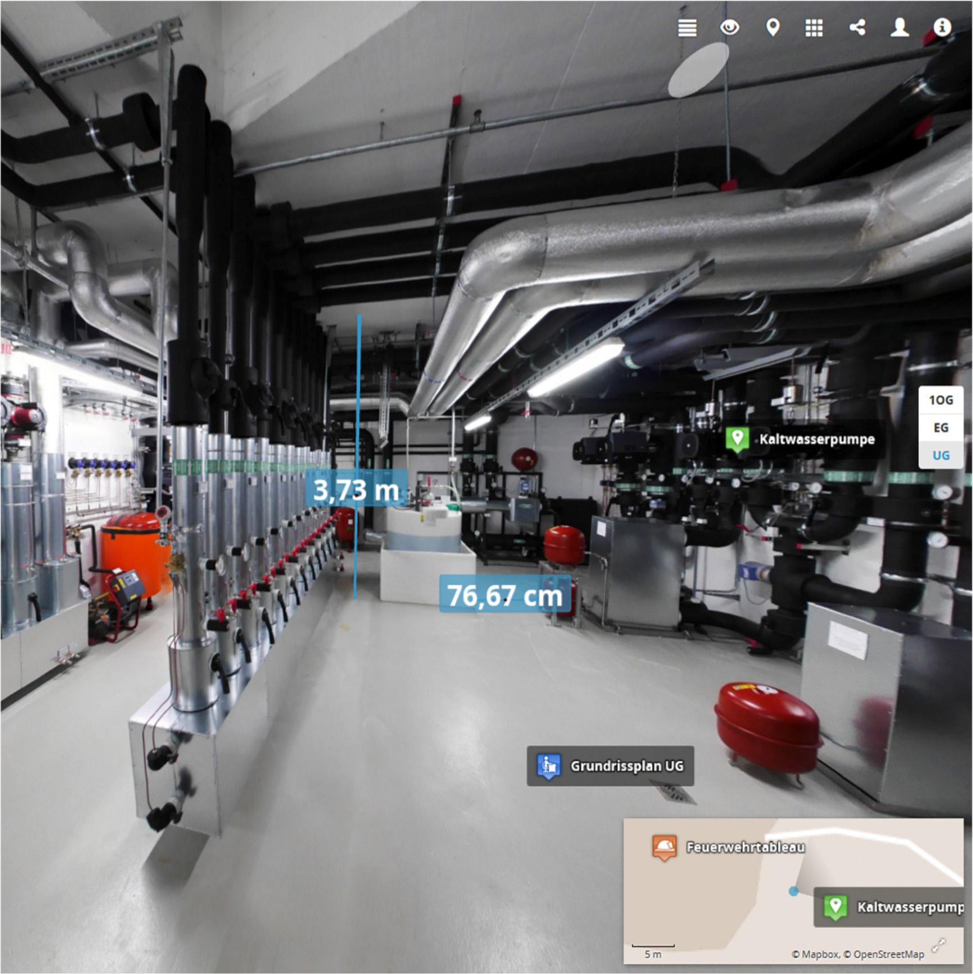 Digitales Aufmaß in der Praxis (Bildquelle: Stephan Wilhelm, Fraunhofer IAO)