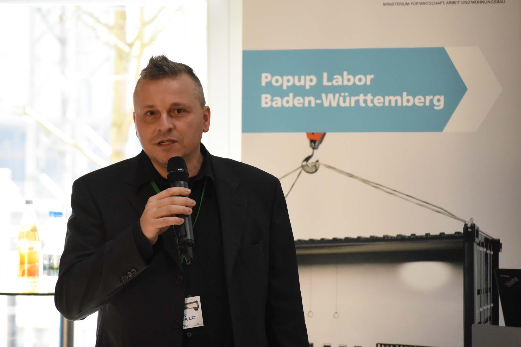 Norbert Fröschle eröffnet den Treffpunkttag