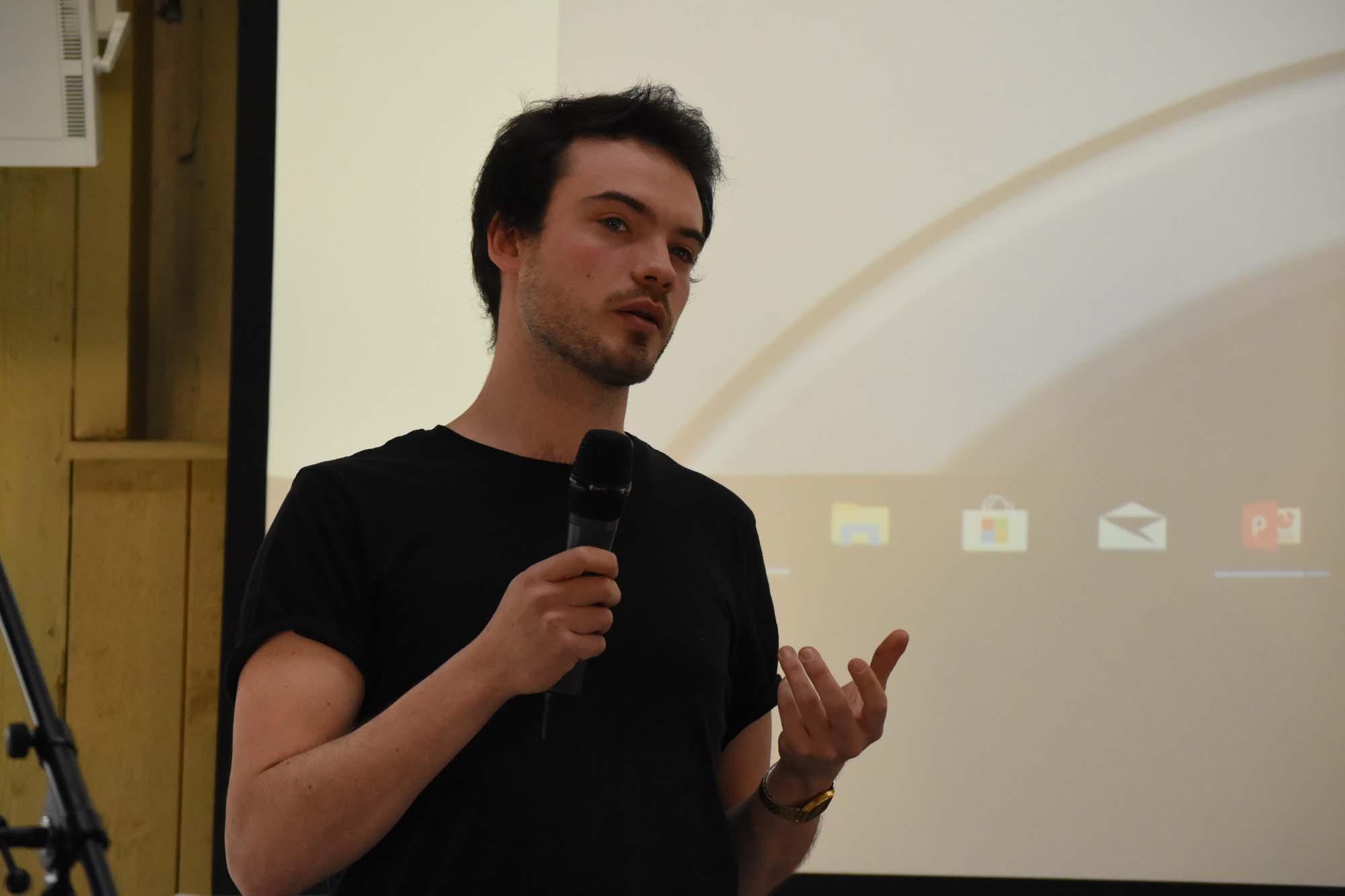 Olivier Brückner spricht über sein Start-up blokdots