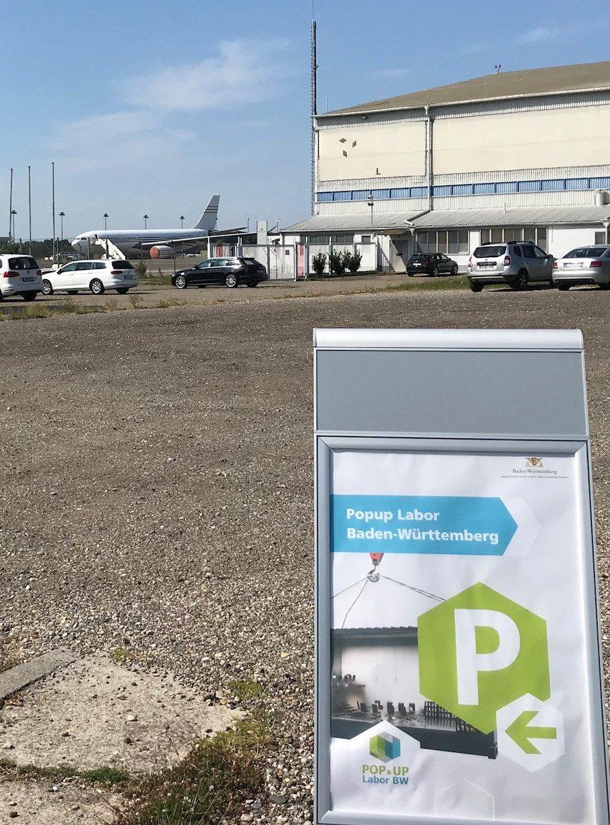 Foto von Popup Labor BW @startkLahr Flughafen (Bildquelle: Popup Labor BW)