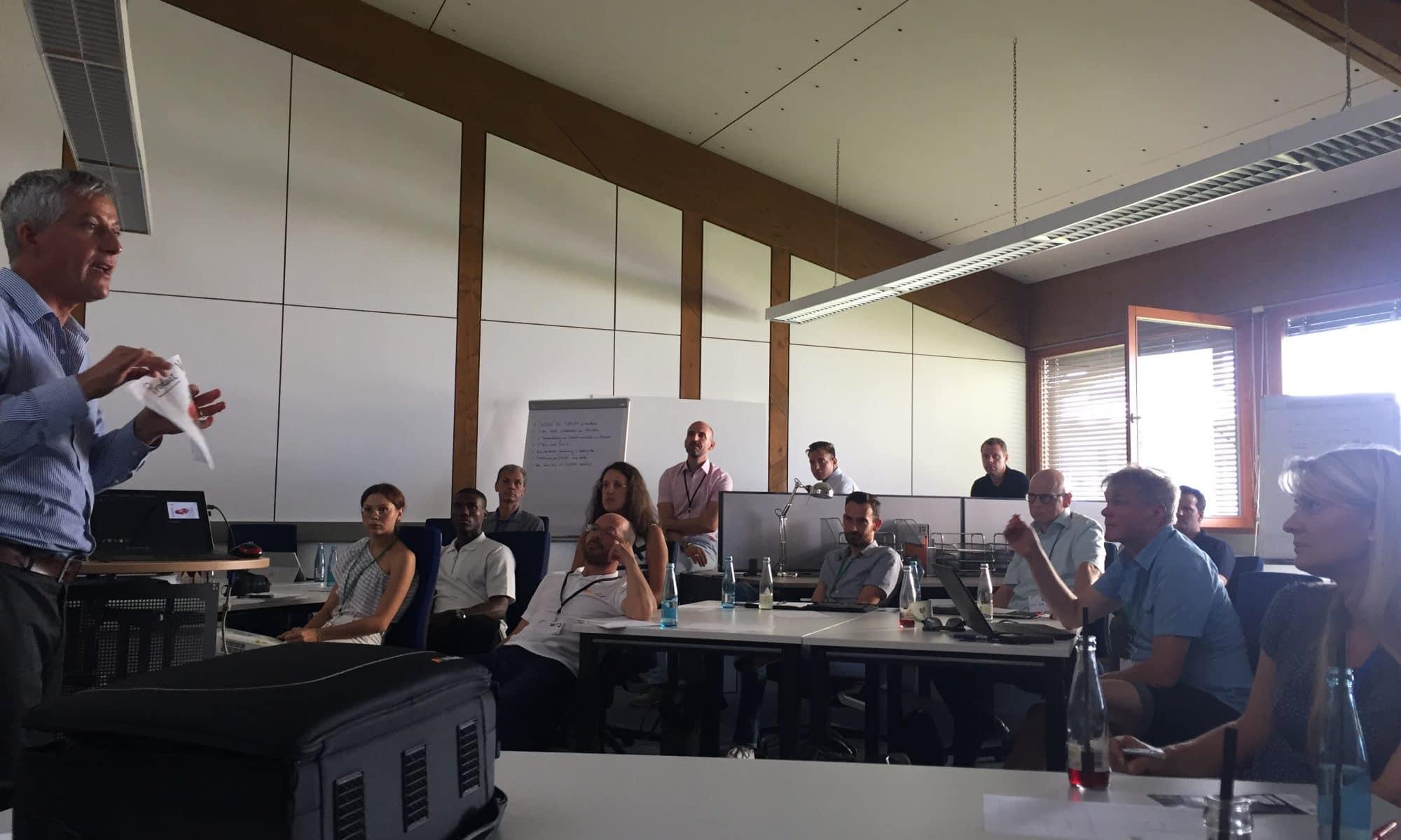 Foto vom W10 SCRUM für KMU im Technologie Park Offenburg
