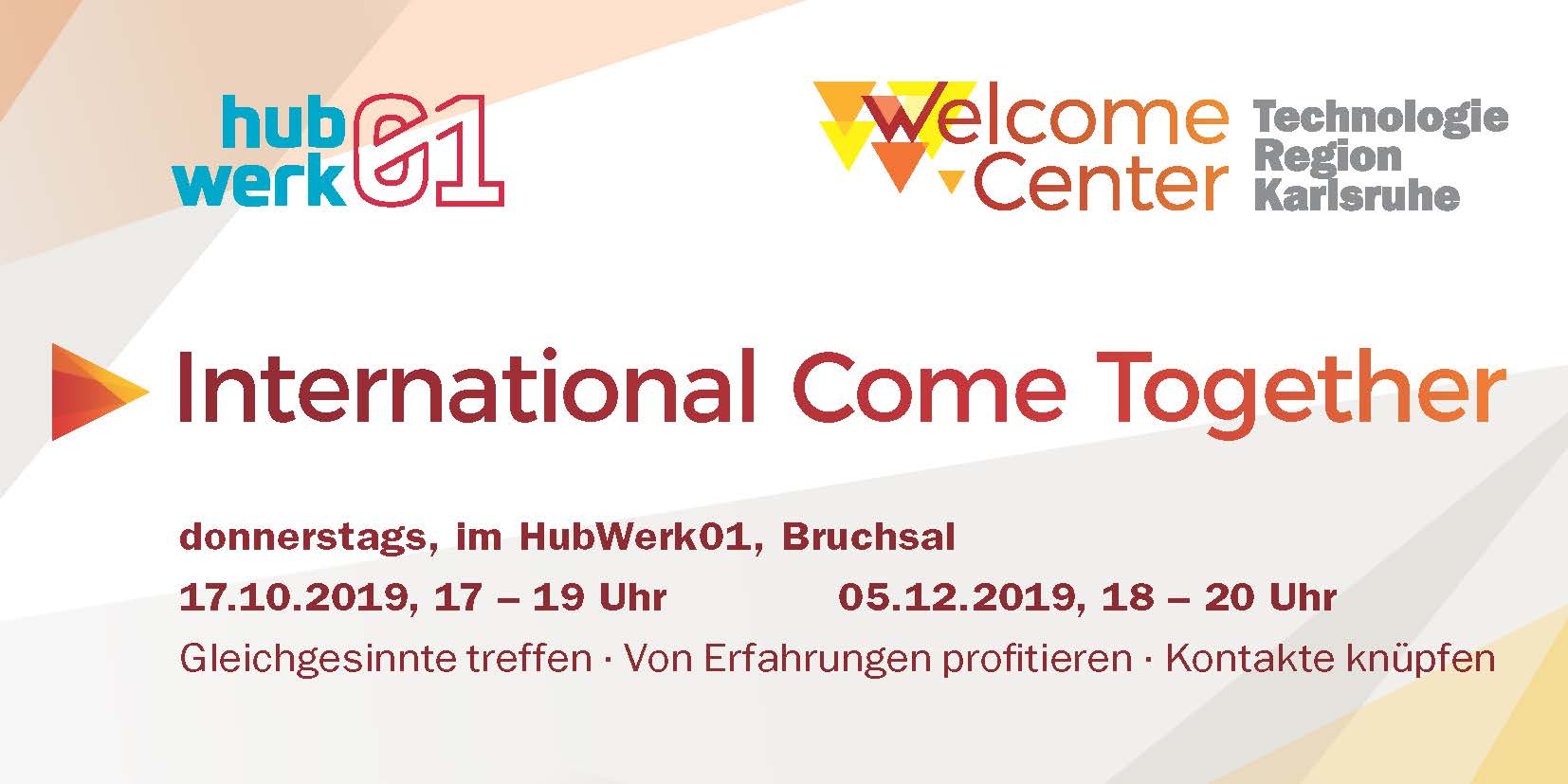 "Bild von Flyer ""International Come Together im HubWerk01 in Bruchsal"" deutsch (Bildquelle: TechnologieRegion Karlsruhe)"