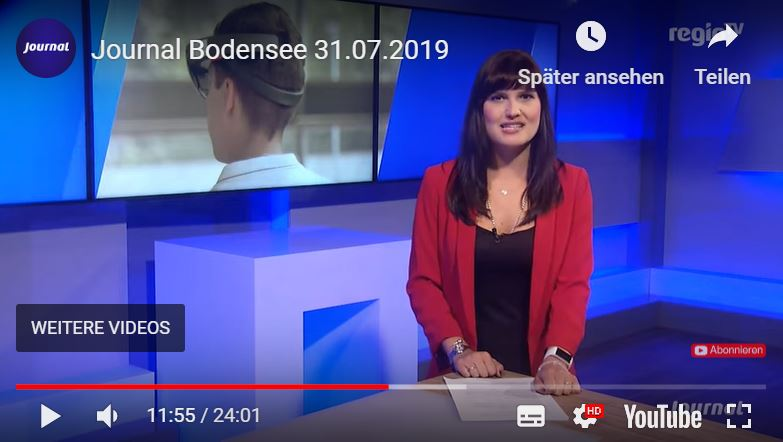 Regio TV Bodensee Journal vom 31.07.2019 Screenshot