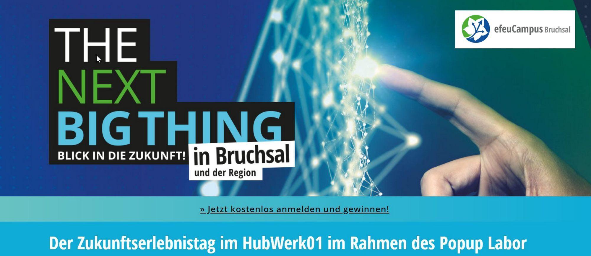 """Bild von Keyvisual """"Zukunfts-Erlebnis-Tag"""" (Bildquelle: HubWerk01 / efeucampus-bruchsal.de)"""