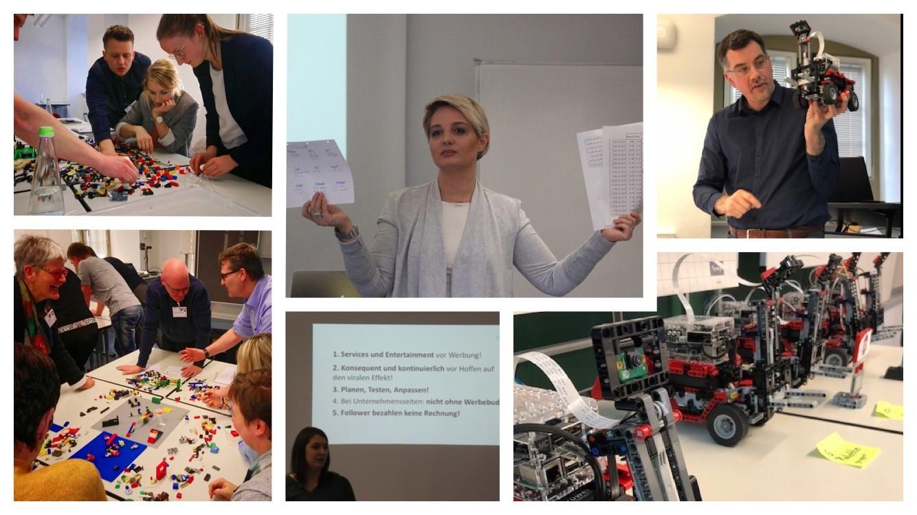 Workshops Fotoimpressionen (Bildquelle: links oben und unten: Andreas Schneider // Mitte oben und unten: Roland Mehlmann // rechts oben und unten: Popup Labor BW)