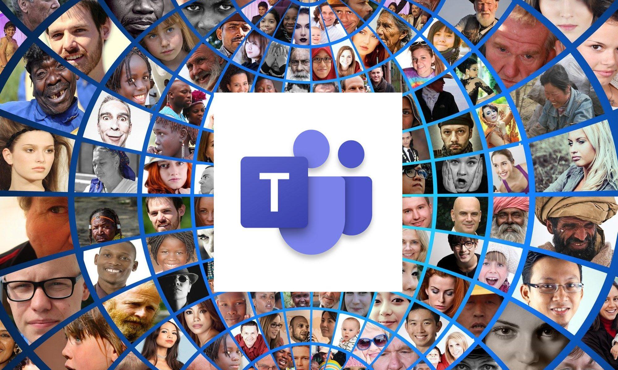 photomontage-1514218 (Bildquelle: Pixabay) mit Microsoft Teams Logo