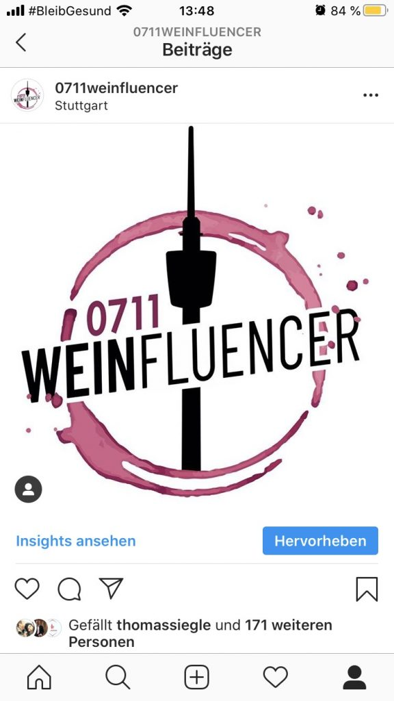 Insta-Screenshot (Bildquelle: 0711weinfluencer)