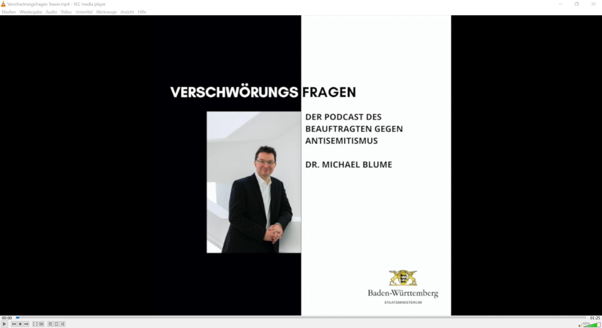"""Screenshot des Teaservideos zum Podcast """"Verschwörungsfragen"""" (Bildquelle: Staatsministerium Baden-Württemberg)"""