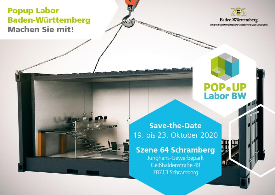 Postkarte Save-the-Date Schramberg (Bildquelle: Popup Labor)