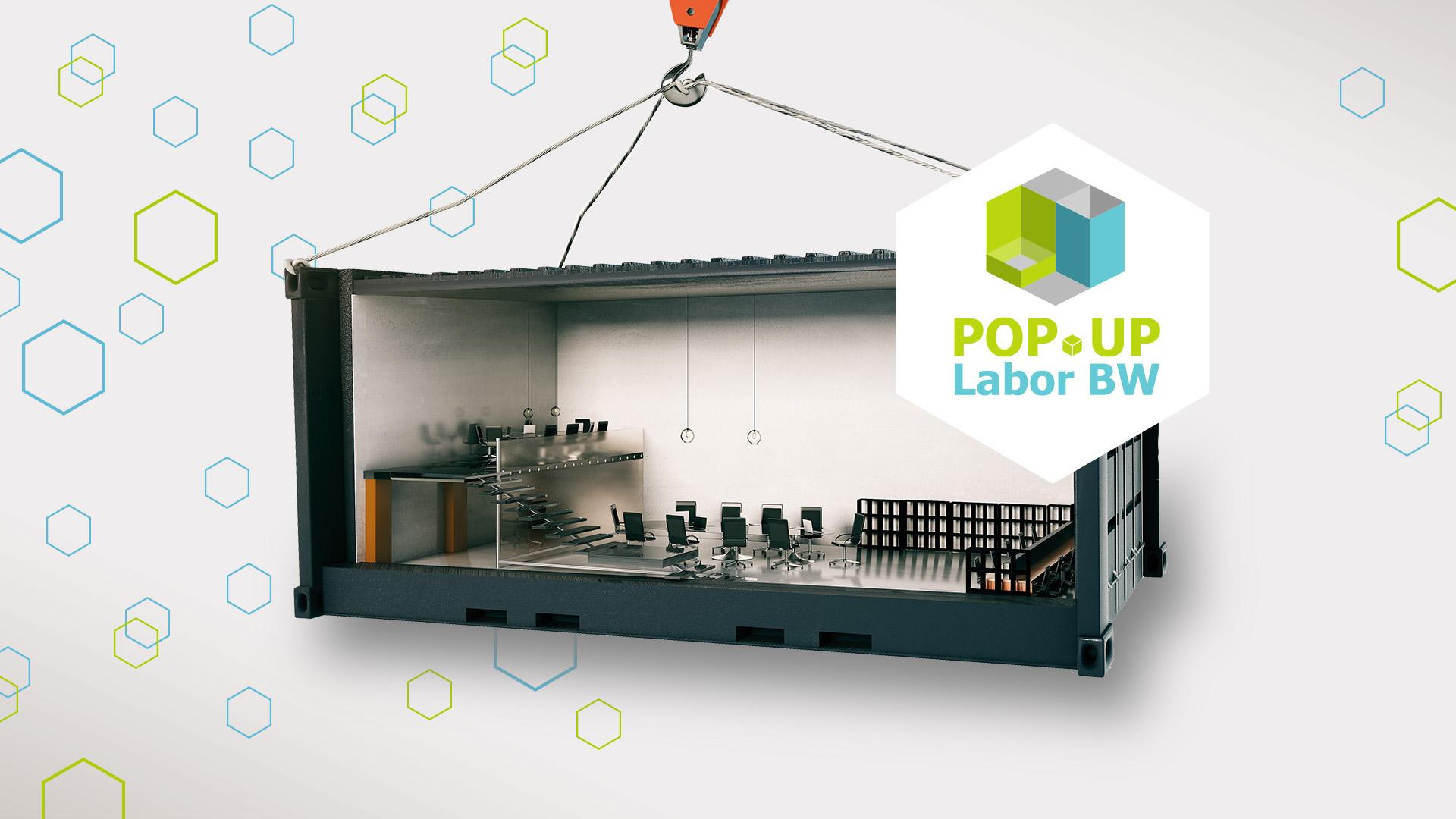 """Bild von Keyvisual """"The Hanging Popup Container"""" (Bildquelle: iStock-584758390 © peshkov und Fraunhofer IAO)"""