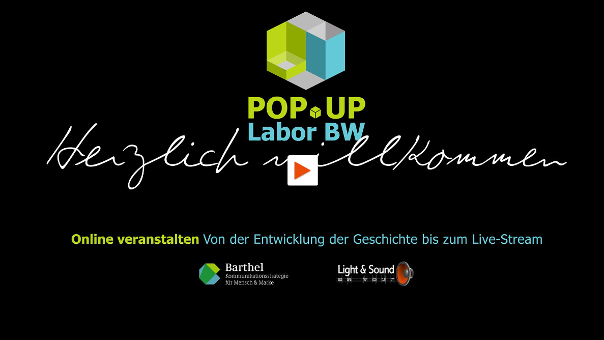 "Keyvisual Popup Labor Workshop ""Online veranstalten"" (Bildquelle: Light & Sound ON TOUR)"