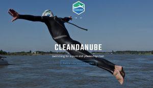 Foto von Prof. Fath, Extremschwimmer, in Aktion (Bildquelle: cleandanube Projekt)