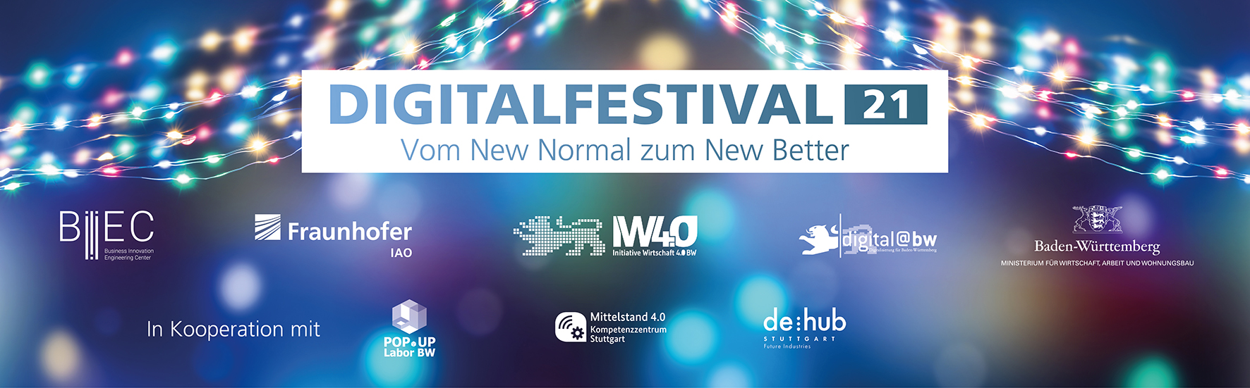 "Keyvisual ""Digitalfestival 2021"" (Bildquelle: winyu - stock.adobe.com und Fraunhofer IAO)"