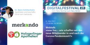 Digitalfestival 2021 - Webtalk mit Dr. Björn Schittenhelm (Bildquelle: Popup Labor BW)